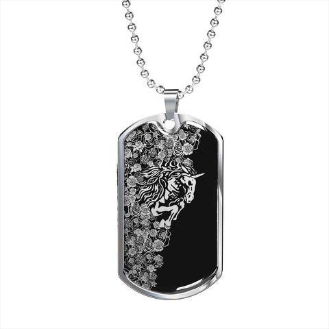 Lee's Excellent w/Unicorn Dog Tag - Black