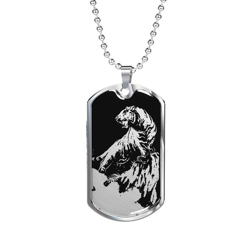 Roaring Tiger Dog Tag - Black Base