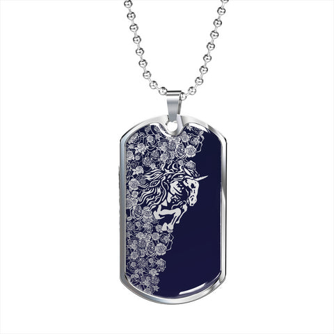 Lee's Excellent w/Unicorn Dog Tag - Blue