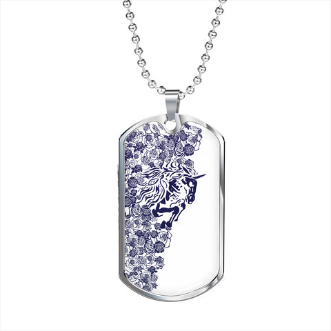 Lee's Excellent w/Unicorn Dog Tag - Cobalt