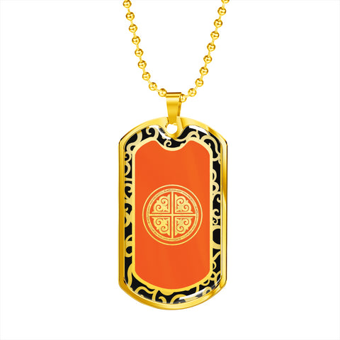 Xiaoyu PHOENIX Dog Tag - 1P - 18k Gold Finish
