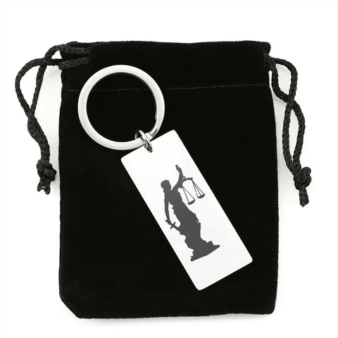 Judgment Lady Justice Premium Keyring