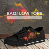 """Ba Qi"" Kanji Low Tops - Mens"