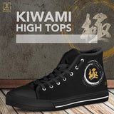 """Kiwami"" - Extreme Kanji High Tops Shoes - Black- Mens"