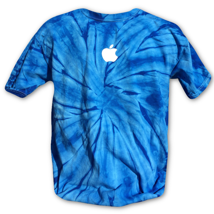 Blue Tie-Dye Apple T-shirt