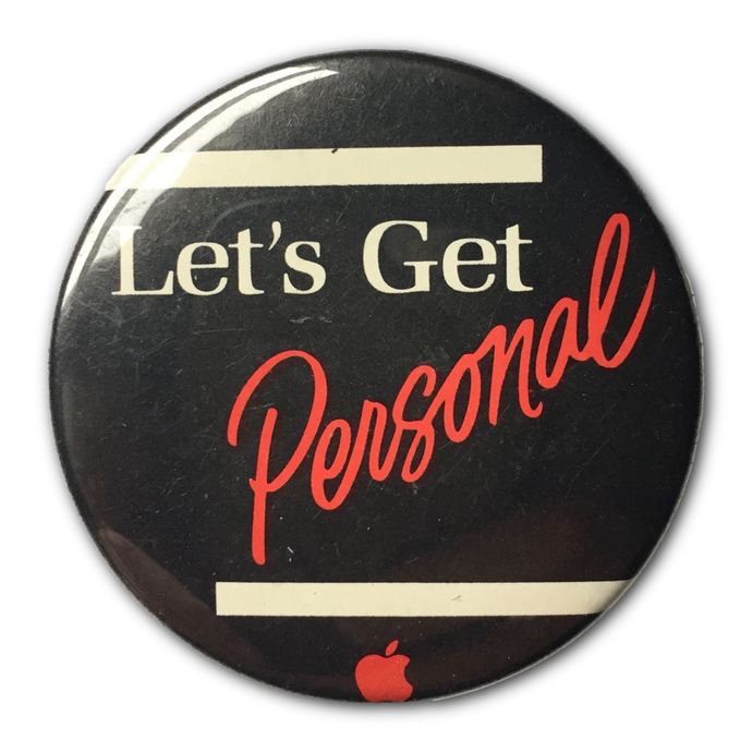 Let's Get Personal Button