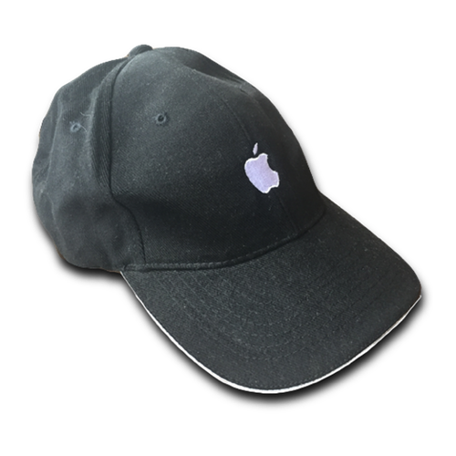 White Rim Black Apple Cap