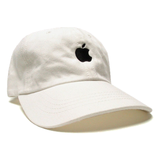 White Apple Baseball Cap