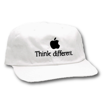 White Think Different Cap
