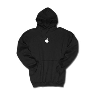 Black Apple Hooded Sweatshirt