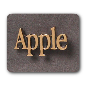 Gold Apple Logotype Pin