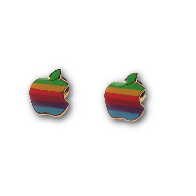 Vintage Apple Earrings