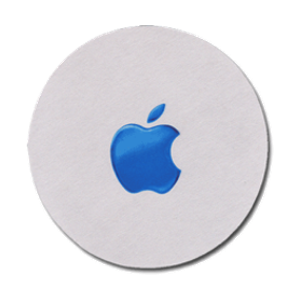 Blue Apple Mouse Pad