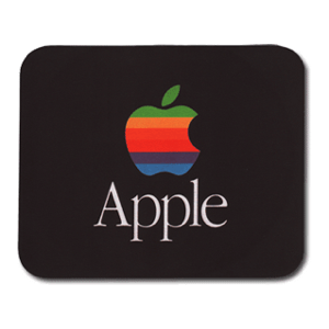 Black Vintage Apple Mouse Pad