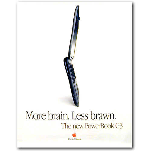 PowerBook G3 Less Brawn Poster
