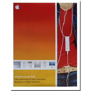 Red iPod Shuffle Poster