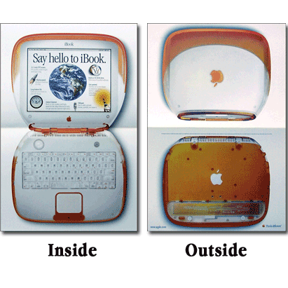 Orange iBook Folded Poster