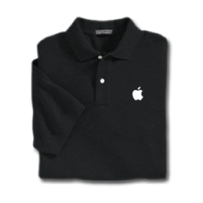 Black Apple Polo Shirt
