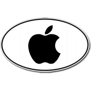 Oval Apple Euro Decal