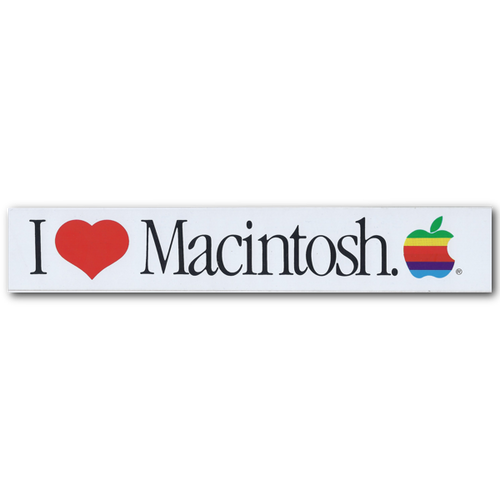 I Heart Mac Bumper Sticker