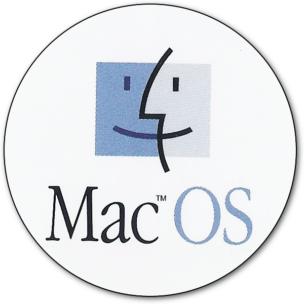 Mac OS Round Sticker