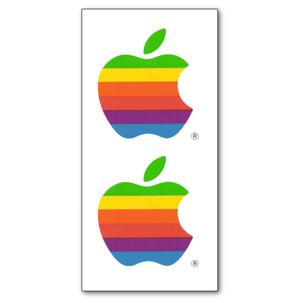Vintage Apple 2 Sticker Set