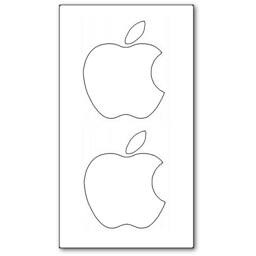 White Apple Sticker Set