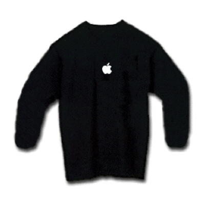 Black Long Sleeve Apple Shirt