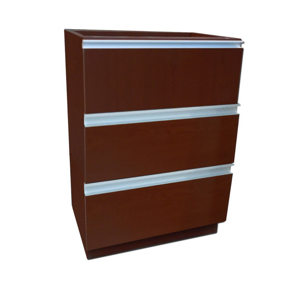 3 Drawer Prescription File Unit - Pharmacy Wood Undercounter