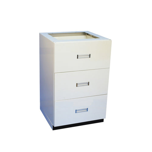 3 Drawer Prescription Unit - Pharmacy Metal Undercounter