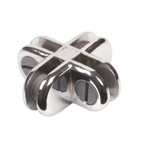 4 Way Chrome Adjustable Connector