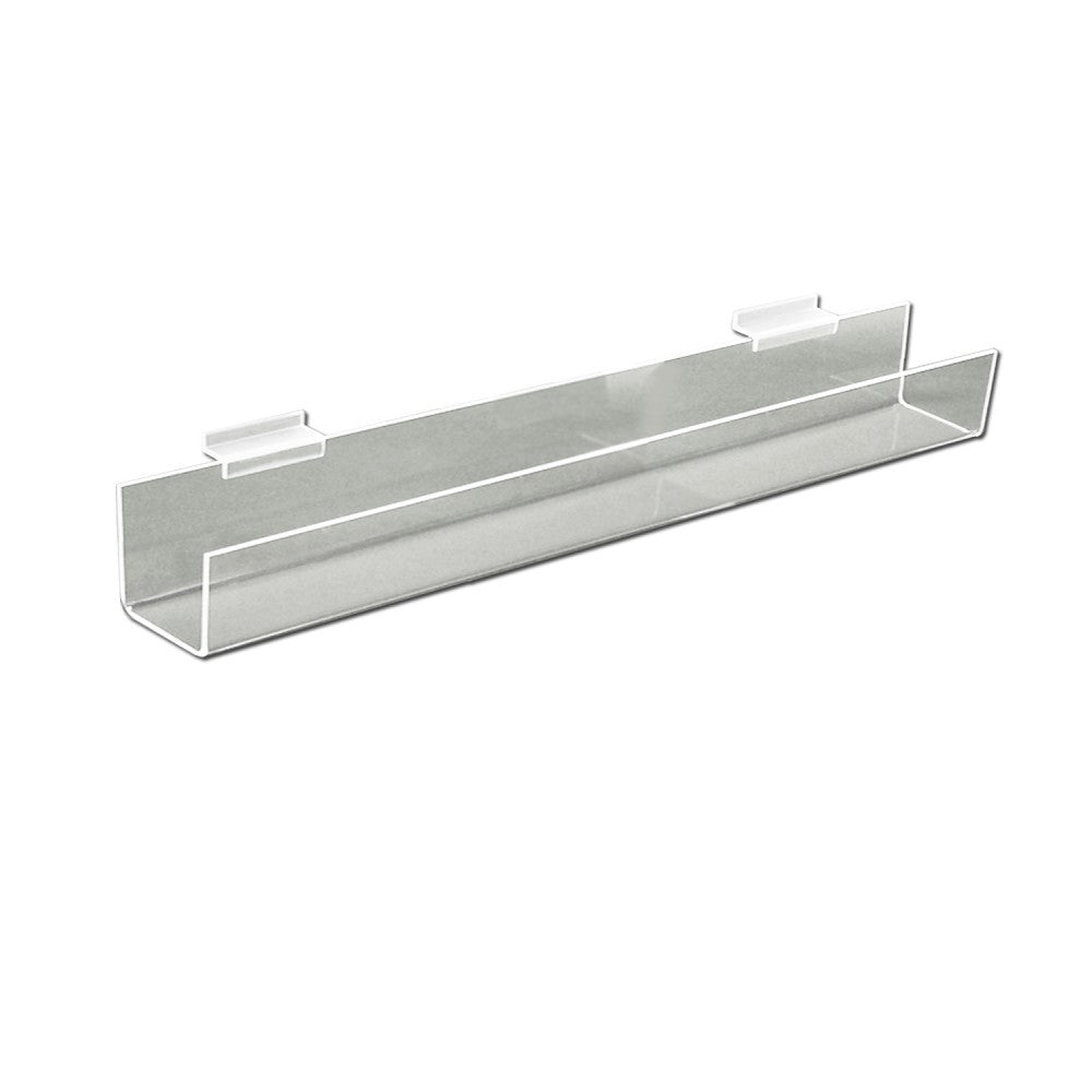 Clear Slatwall Bookshelf 24