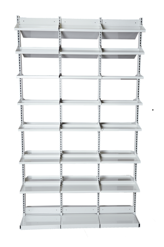 "49""L x 84""H x 18""D - See Through Pharmacy (Starter/Add-On) - Double Sided Bays"