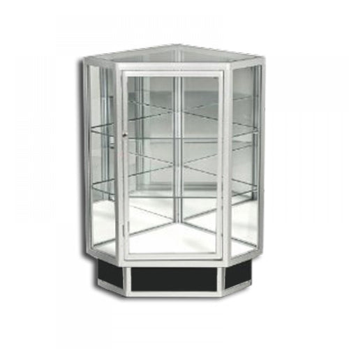 USF Series Extra Vision Front Opening Corner Display Case
