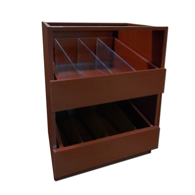 Vial Unit - Pharmacy Wood Undercounter