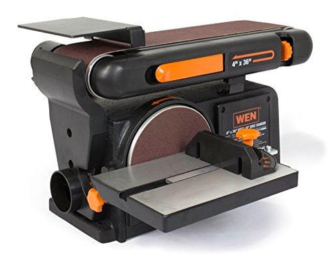 6502 Belt Sander and 6-Inch Disc Sander With Cast Iron Base