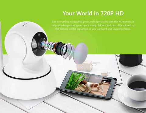 Infrared Two Way Audio Wireless 720P Security Camera