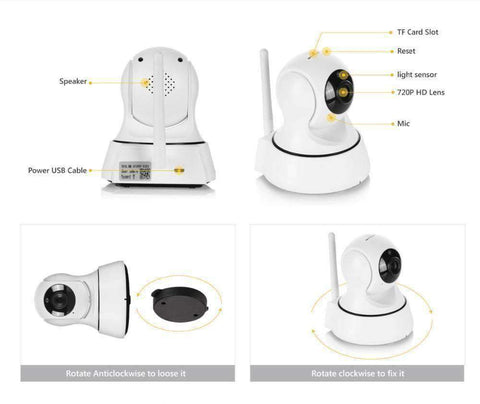 Two Way Audio IP Wireless 720p Security Camera - Getmaxdeals