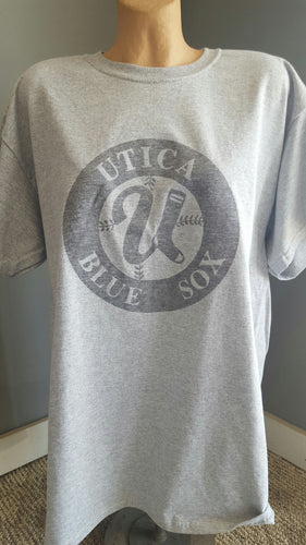 T-Shirt-gray - Distressed Circle Logo