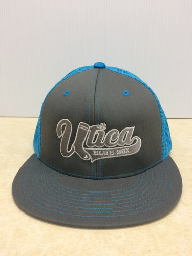 Cap - D-Series Crown Shape Hat - Graphite/Neon Blue