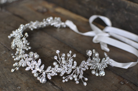 Wedding Halo Vine Headband With Rhinestone Crystals