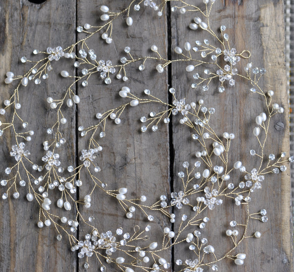 Bridal Wedding Extra-Long Vine Hair Accessory