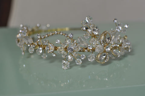 Handmade Beaded Wedding Halo Headband