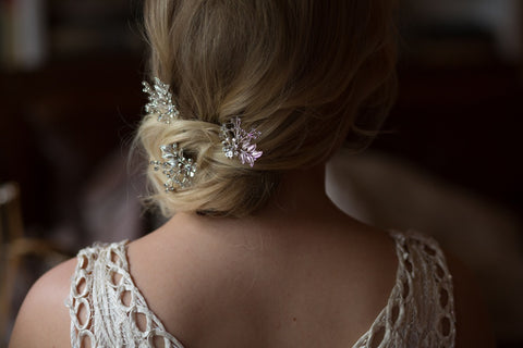 Set Of Three Handmade Bridal Accessory Hairpins