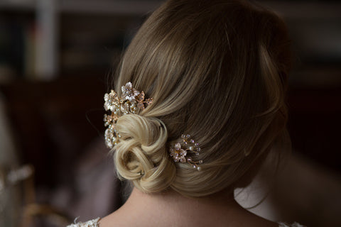 Set Of Two Unique Bridal Hair Comb Headpieces