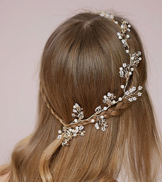 Bridal Wedding Halo Headband With Rhinestone Crystals