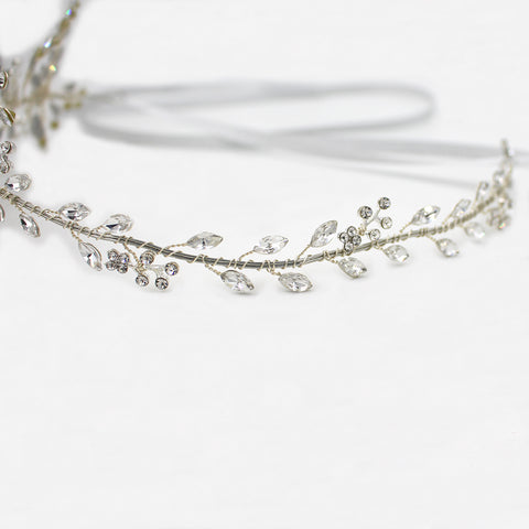 Bridal Tiara Headpiece With Rhinestone Crystals