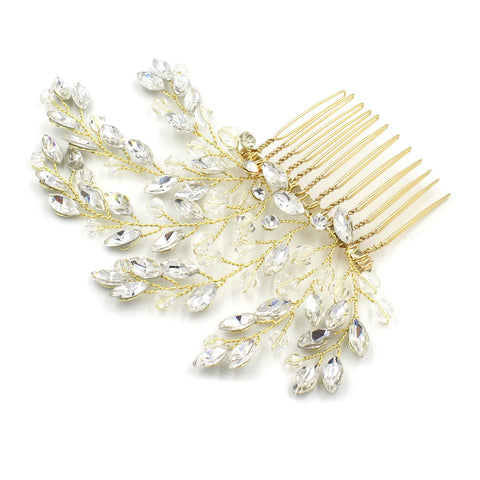 Rhinestone Spray Bridal Comb Hair Accessory