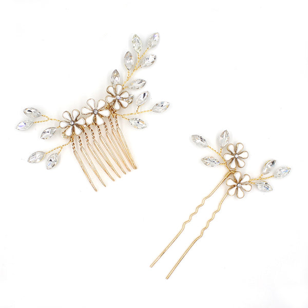 Handmade Bridal Hair Comb And Pin Accessory Set