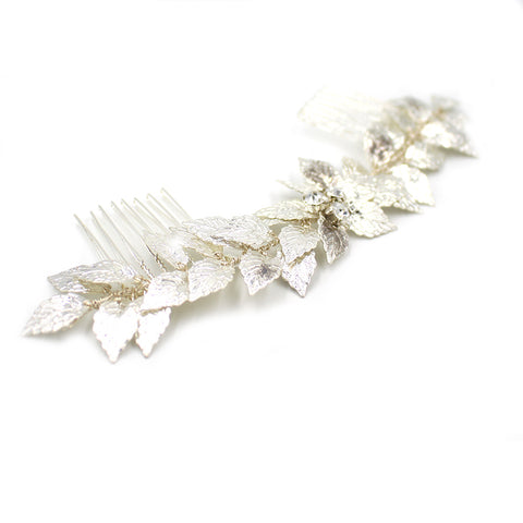 Bridal Laurel Leaf Comb Headpiece